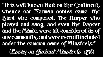 minstrel quote